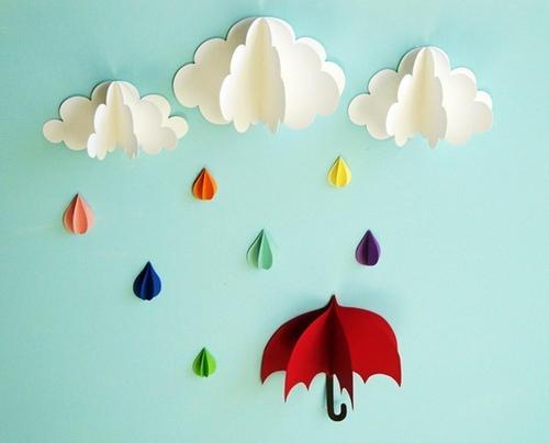 nubes y lluvia 3D