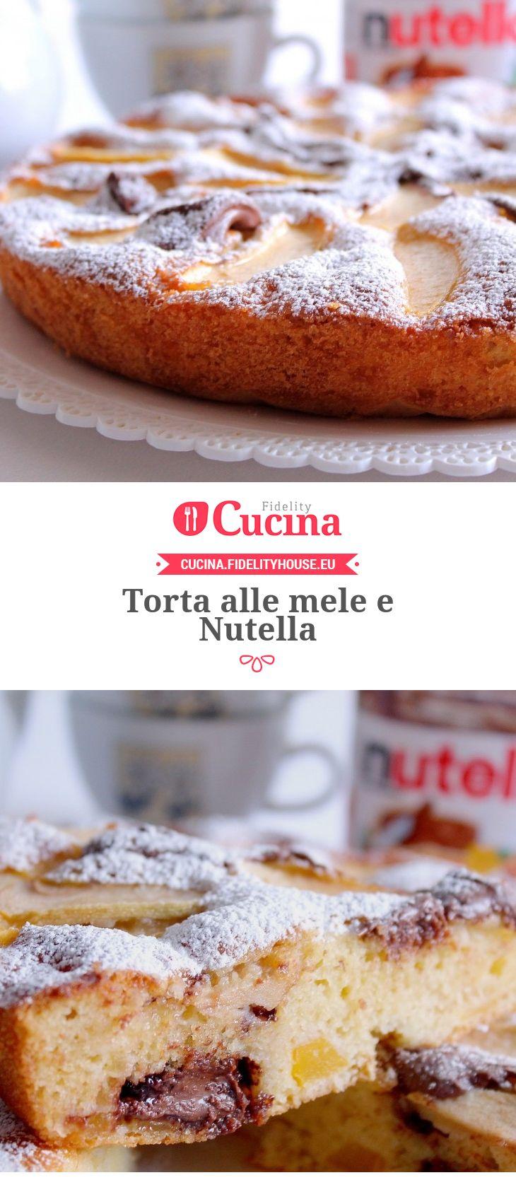 #Torta alle #mele e #Nutella della nostra utente Giovanna. Unisciti alla nostra Community ed invia le tue ricette!