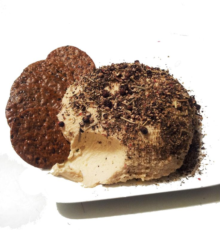 A Profound Hatred of Meat: Black Pepper & Herb Vegan Goat Cheese