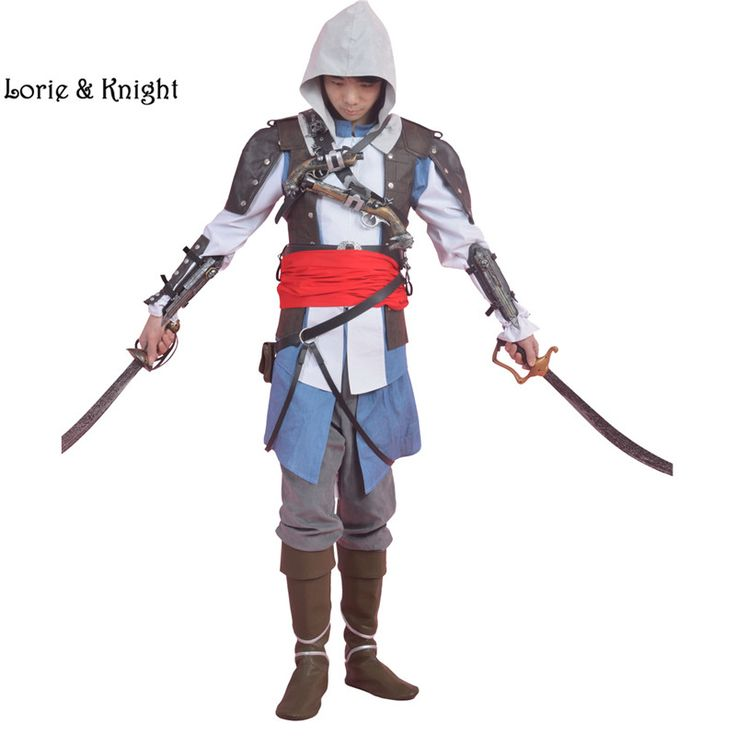 Custom Assassins Creed Costume Edward Kenway Cosplay Halloween Costume Full Suit for Adult Men/Women/Kids