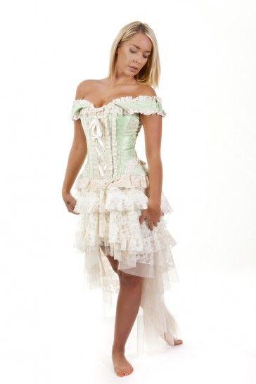 http://www.burleska.co.uk/jasmin-overbust-corset-pistachio-king-brocade.html  NEW Jasmin overbust in pistachio king brocade