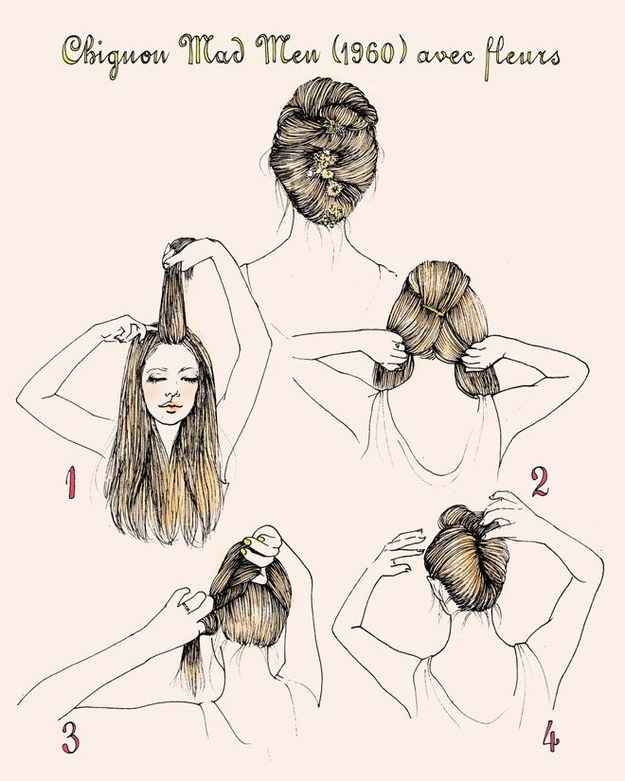 Joan Holloway's Chignon | 27 Gorgeously Dreamy Vintage-Inspired Hair Tutorials