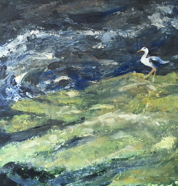 Water of Leith and heron oil