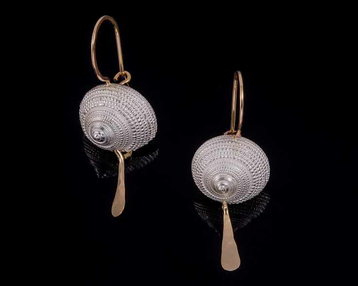 Silver saeshell earrings - Sterling silver, Gold-filled silver by JackAssayagJewelry on Etsy