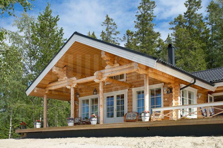 Casa de madera de tronco redondo modelo ku 82 kuusamo - Construccion casas de madera ...