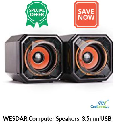 WESDAR Computer Speakers, 3.5mm USB  for more details visit http://coolsocialads.com/wesdar-computer-speakers--3-5mm-usb--68981