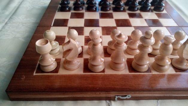Spielzeug - Neu schön handgefertigt Holz Schachspiel,Geschenk - ein Designerstück von HandgefertigteSchach bei DaWanda