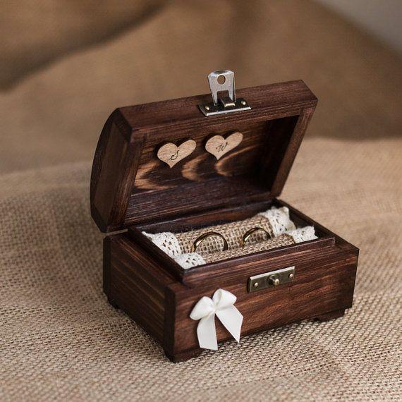 Boîte de bague de mariage personnalisé. Boîte à par collectivemade