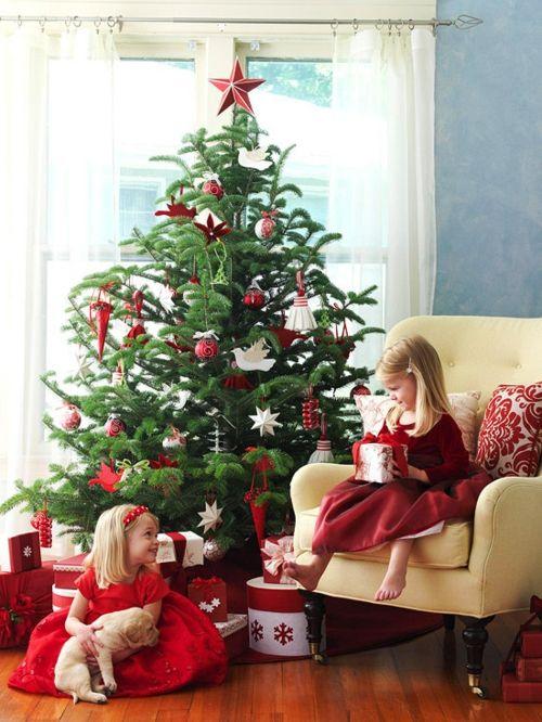 Traditionell geschmückter Weihnachtsbaum - Gefällt Ihnen diese Idee?  - http://wohnideenn.de/weihnachtsdekoration/11/traditionell-geschmuckter-weihnachtsbaum.html  #Weihnachtsdekoration