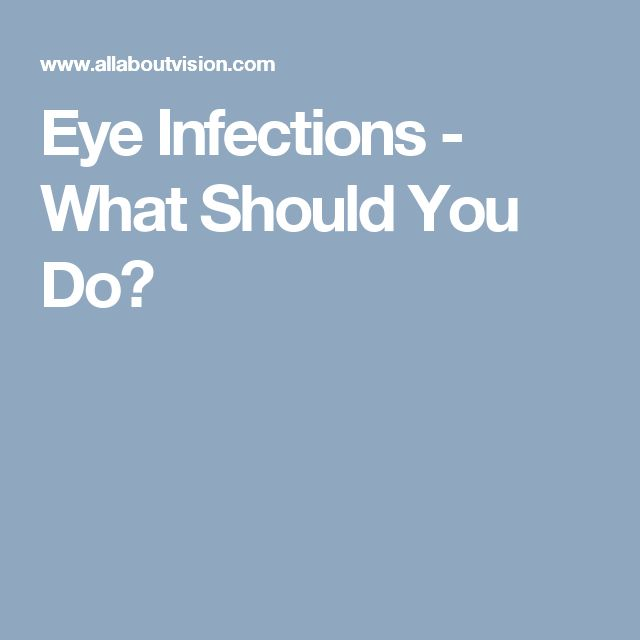 Eye Infections - What Should You Do?