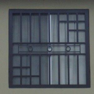 Imagen de rejas de ventanas de herrería moderna para casa