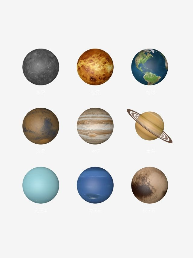 Beautiful Solar System Nine Big Planets Vector Saturn Clipart Mercury Venus Png And Vector With Transparent Background For Free Download Planet Vector Solar System Planets