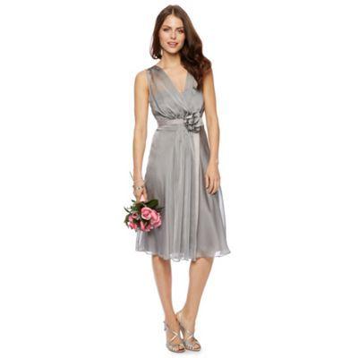 Debut Fleur Corsage Waist Midi Dress- at Debenhams.com