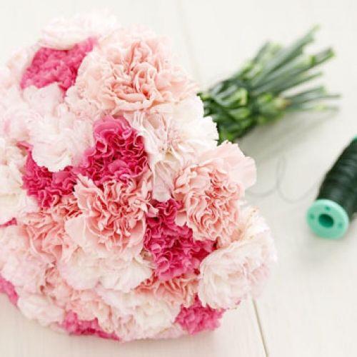 Los claveles son una flor tradicional pero estomas poco habituados a verlo en ramos de novia. Combina varios colores rosados y será precioso. No en vano simbolizan elegancia. Evita el rojo, el jaspeado y el amarillo que simbolizan la tristeza, el rechazo y el desprecio respectivamente.