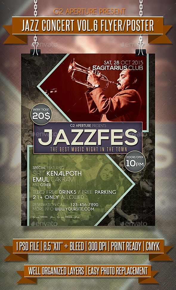 Best Flyers Images On   Concert Flyer Flyer Template