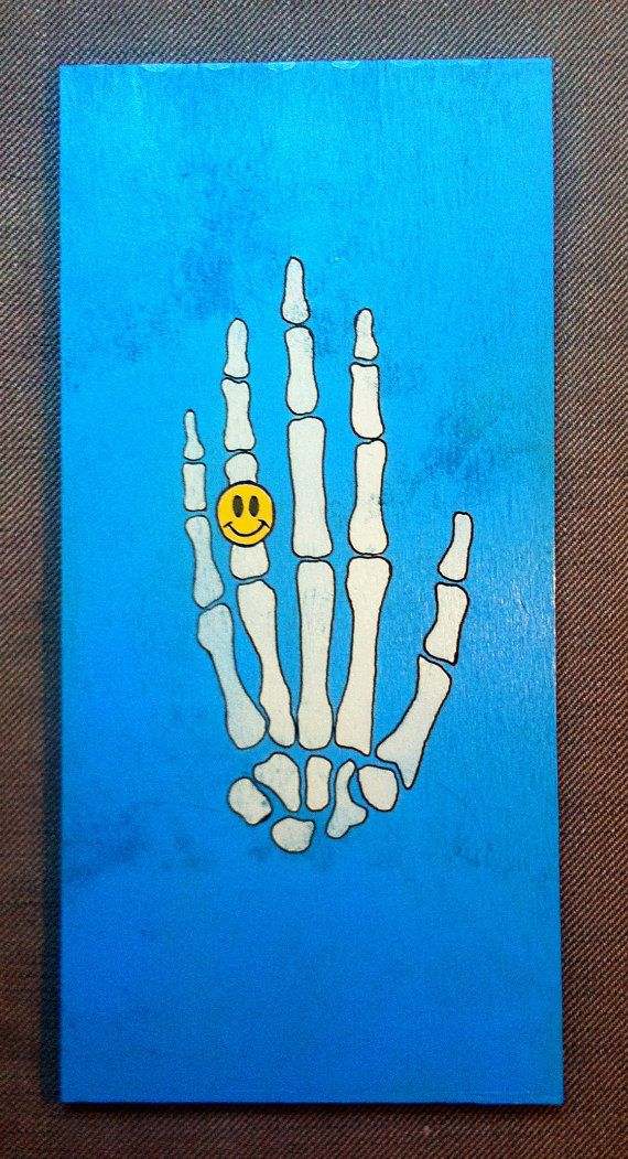 Hand of Death  Original Handmade Stencil Artwork by DrStencil