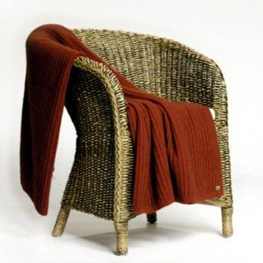 Koru Merino Wool & Possum Fur Ribbed Throw or Blanket