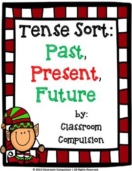 FREE Christmas Past, Present, Future Tense Sort Activity - This simple tense sort would be a perfect addition to your language center during the holidays. Students will sort holiday-related words by past, present, and future tense and then use those words to write sentences.