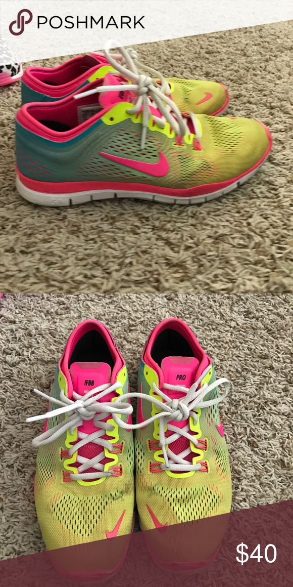 Nike ID Free gymshoes Worn about 10 times. I have a TON of gymshoes so none really get worn too much. All are in great condition. Nike Shoes Athletic Shoes