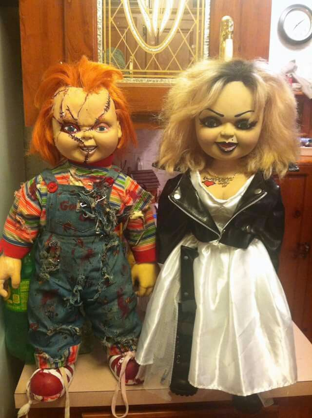 e30eab48 Custom Bride of Chucky Spencers Gifts Chucky & Tiffany Dolls | Chucky &  Tiffany Doll Art, Pics, & Customs in 2019 | Spencers gifts, Bride of chucky,  Chucky