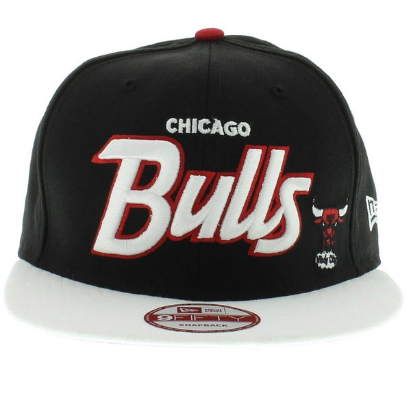 Chicago Bulls Black, White, Red, Gray Under SNAPBACK ($28) ❤ liked on Polyvore