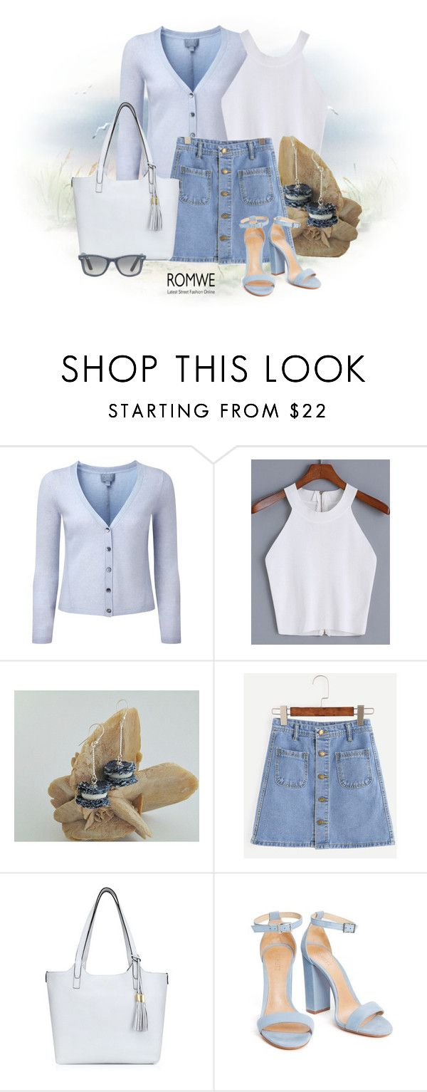 ROMWE by styledonna on Polyvore featuring moda, Pure Collection, Henri Bendel, Ray-Ban and romwe