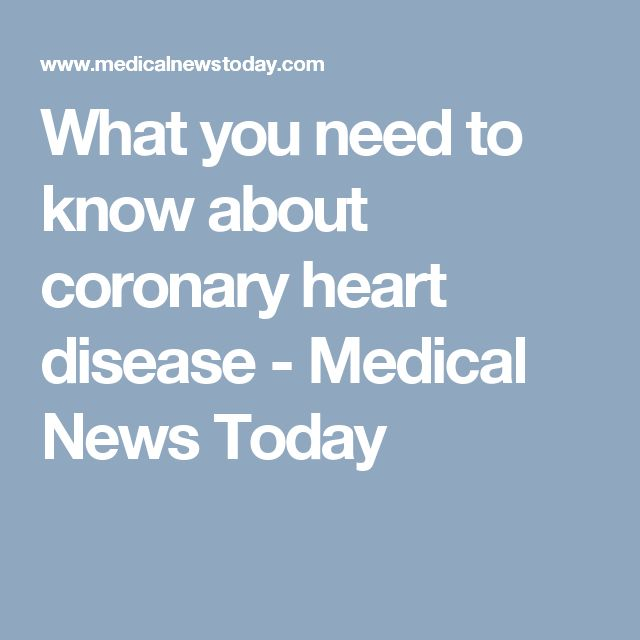 What you need to know about coronary heart disease - Medical News Today