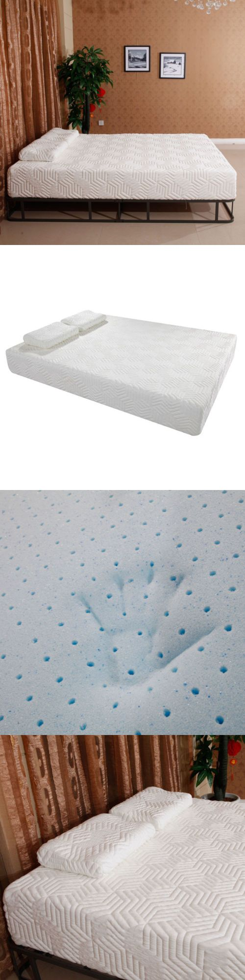 Bedding: 10 Inch Queen Size Traditional Firm Memory Foam Mattress 2 Free Pillows + Cover -> BUY IT NOW ONLY: $199.99 on eBay!