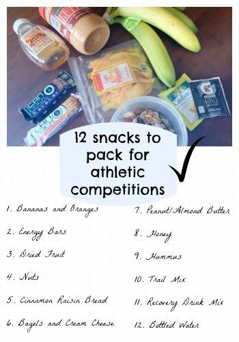 12 Snacks to Pack for Athletic Competitions | LuchaFIT Athlete Blog