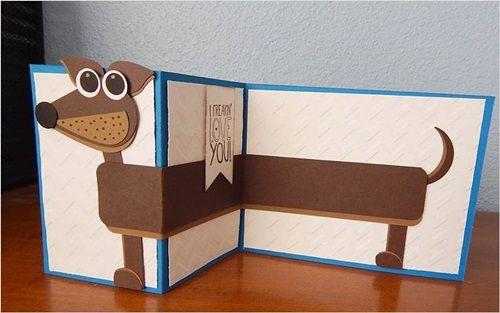 Открытка на Новый год 2018 — символ года Собака — своими руками с детьми из бумаги и картона: Мастер-класс пошагово новогодней открытки с Собакой, как нарисовать, для детей