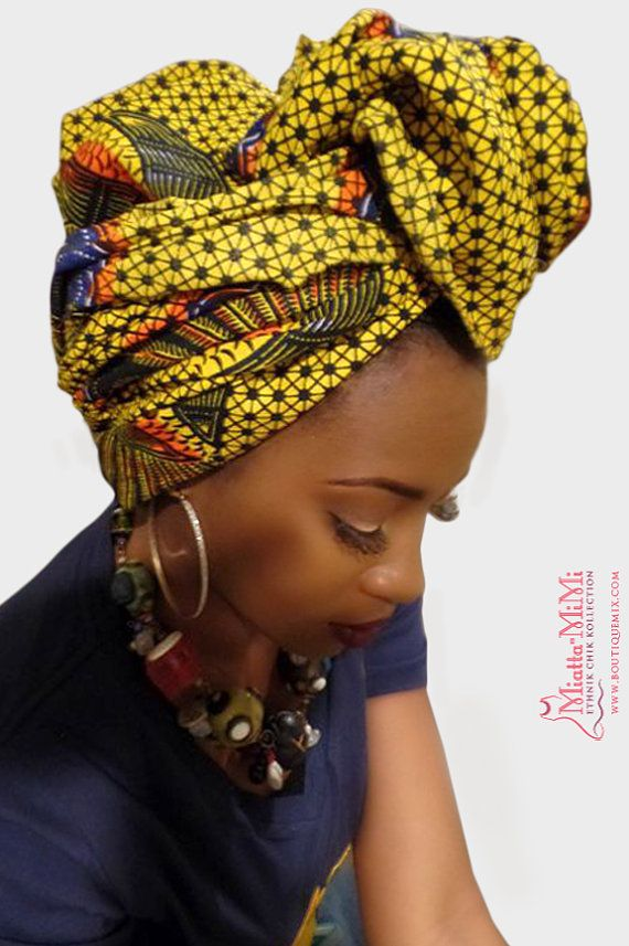 African clothing African fabric African head wraps by BoutiqueMix