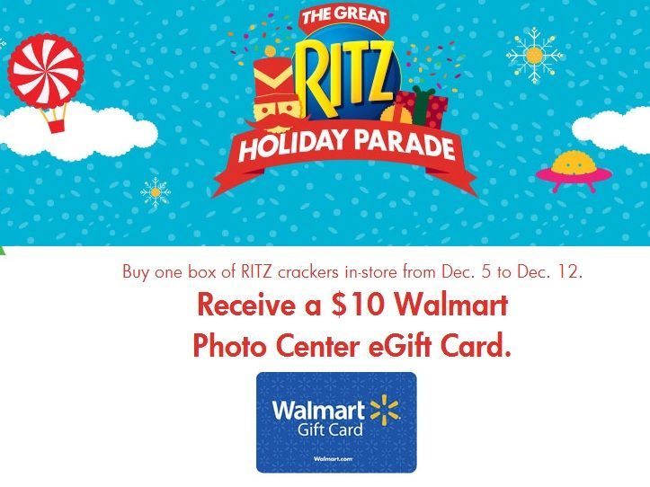 Loves deals? How about $10 towards the Walmart photo center! Snag this deal and others during The Great Ritz Holiday Parade.