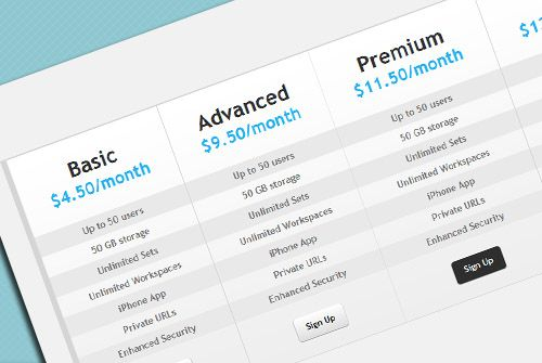 14 best images about free html css pricing tables on for Table using html