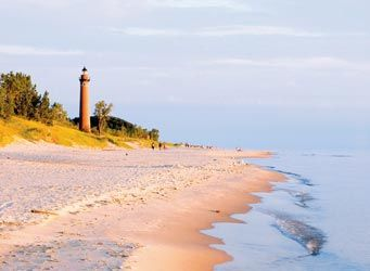 Little Sable Point Lighthouse-- Located in the Silver Lake State Park, this beautiful red brick lighthouse built in the late 1870's is a must see.  Climb to the top of the tower and look out over Lake Michigan and the dunes.  Photo courtesy of Silver Lake Dunes-Hart Visitors Bureau
