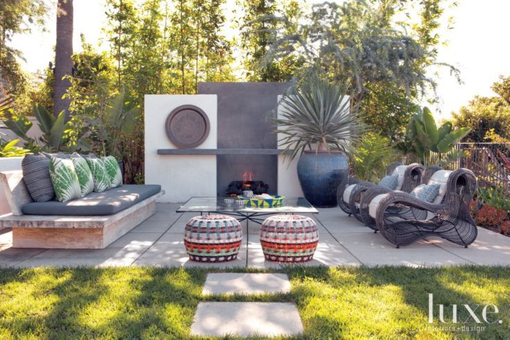 Neutral Modern Outdoor Seating Area