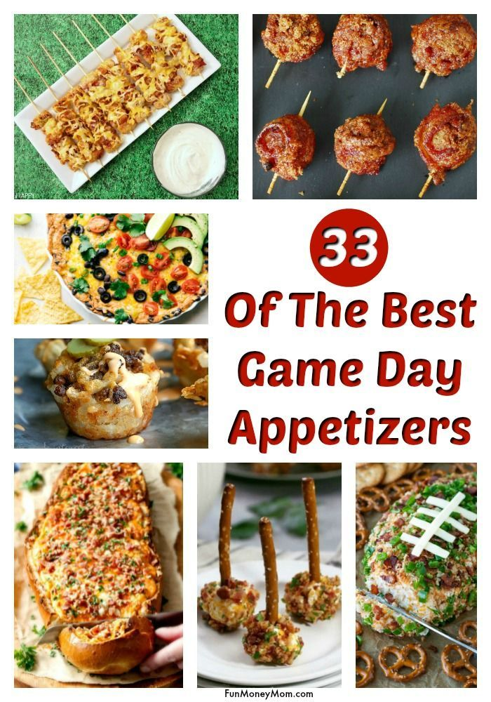 The Best Football Food For Game Day Game Day Food Football Food Appetizer Recipes