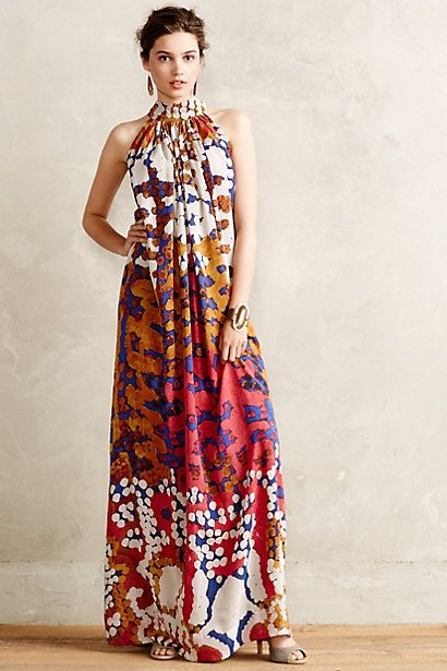 Lorna Silk Maxi Dress #anthropologie