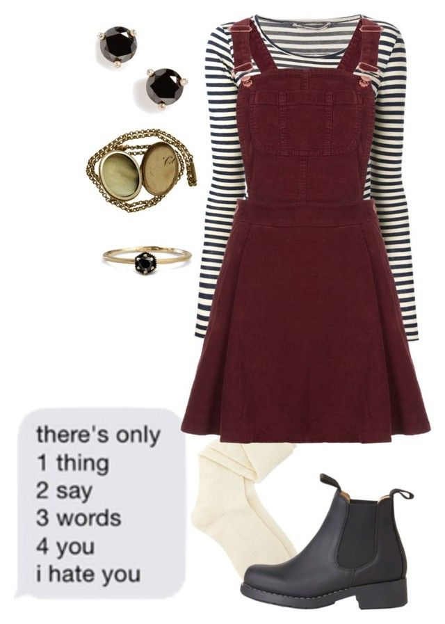 """""""i hate you"""" by dreams-of-a-samurai ❤ liked on Polyvore featuring Humanoid, Charlotte Russe, Topshop, Coven, Satomi Kawakita and Kate Spade"""
