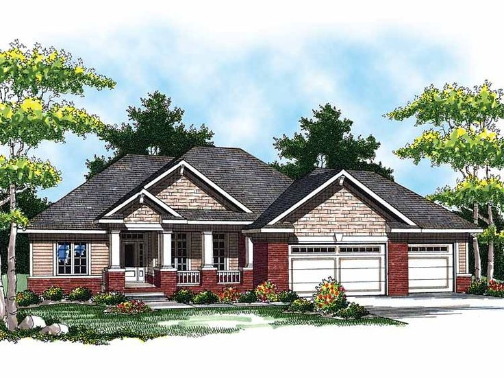 Eplans ranch house plan ranch home designed for for Home plans for entertaining