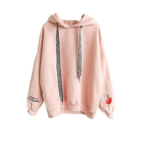 Kawaii Harajuku Pastel Peach Pink Hoodies Sweatshirts for Womens / The actual item's color maybe slightly different from the picture shown due to the lighting when the picture was shot ** Continue to the product at the image link.