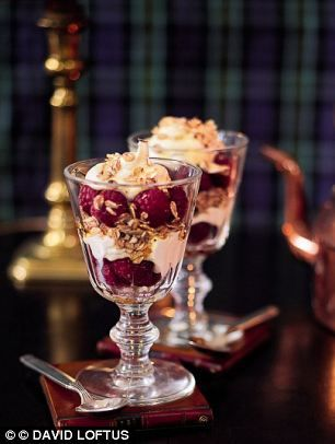 Cranachan - a well-known Scottish dessert. This dessert is traditionally served at New Year and at some Burns Night suppers.