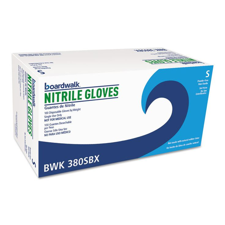 Disposable General-Purpose Nitrile Gloves, Small, Blue, 4 Mil, 1000/carton