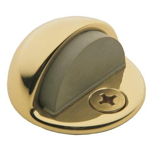 Baldwin 4010 1-3/8 Inch Half Dome Brass Door Bumper (satin brass and black)