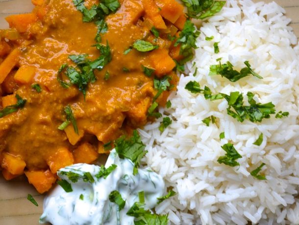 """I've wanted to try """"British Currie Sauce"""" since hearing Bridget Jones's mother always talking about making """"a curry."""" lol.     This turned out not bad at all, especially considering it was my first time trying """"a curry,"""" and 100% from scratch!     Next time I plan to adjust some of the measurements and experiment more with the recipe.... but it turned out pretty yummy :-D"""