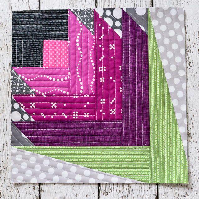 Scottish Thistle QAYG Block | Love Outlander? Then you'll love this Scottish inspired quilt block!