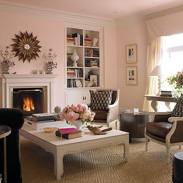 Pink Pink Living Room Walls Pink Living Room