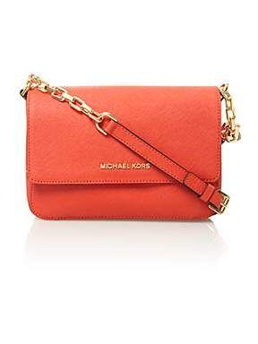 Michael Michael Kors Selma red small shoulder bag - House of Fraser
