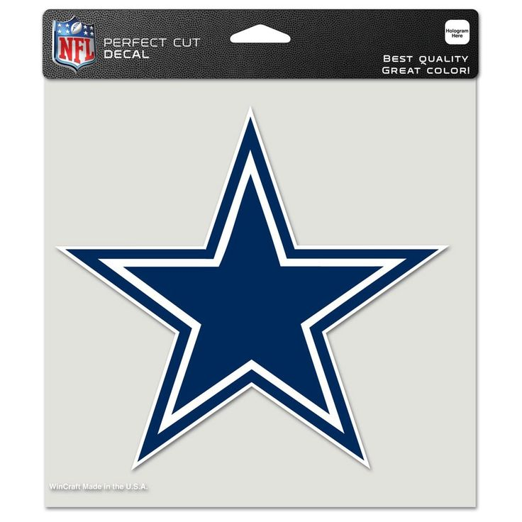Dallas Cowboys 8x8 Perfect Cut Color Decal   $12.99 At Sportsfan Store