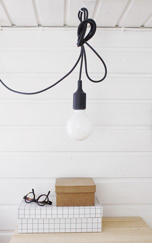 Via Varpunen | Hay Box | Muuto Bulb Lamp | Black and White