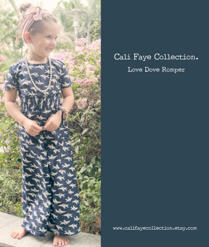 Love Dove Romper PDF pattern and tutorial by CaliFayeCollection